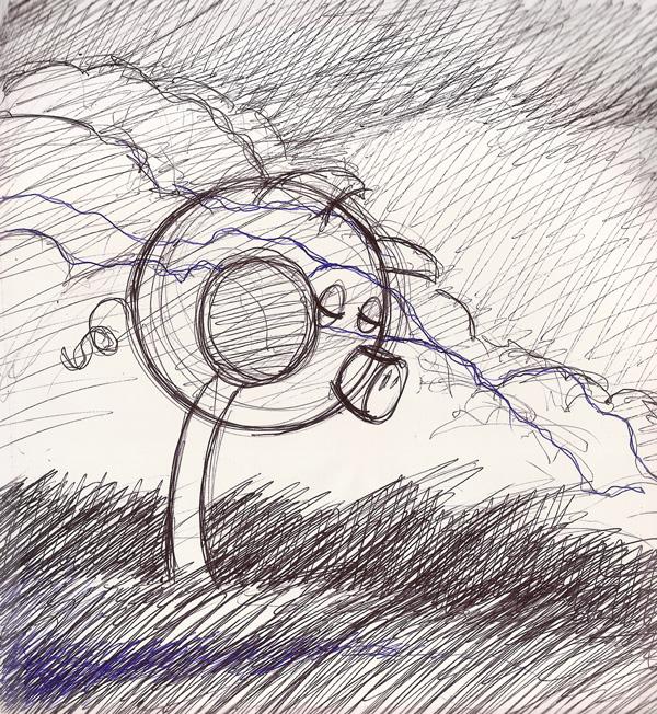 LolliPig Waits... (sketch)