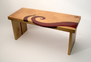 Red Swirl Benchtable:
