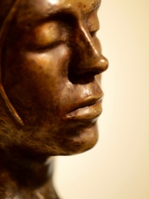 Female Bust w/ Removable Bun (detail)