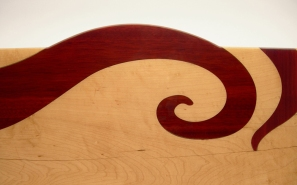 Red Swirl Benchtable (detail):