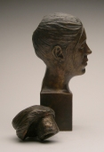 Female Bust w/ Removable Bun (detail of disassembled head)