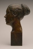 Female Bust w/ Removable Bun