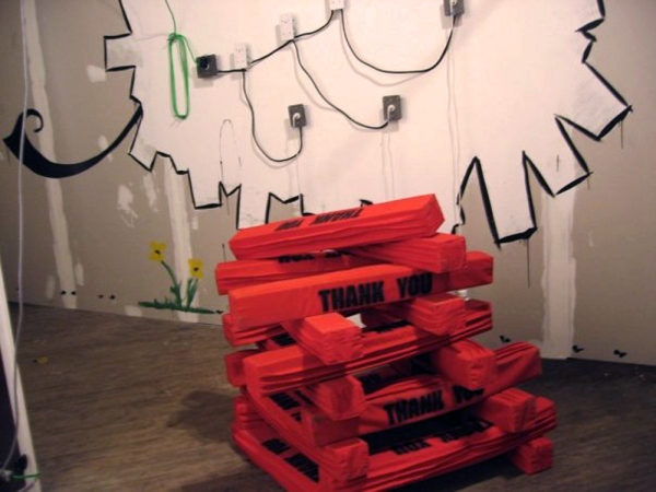 Arcade Robot Installation (detail of an installation)