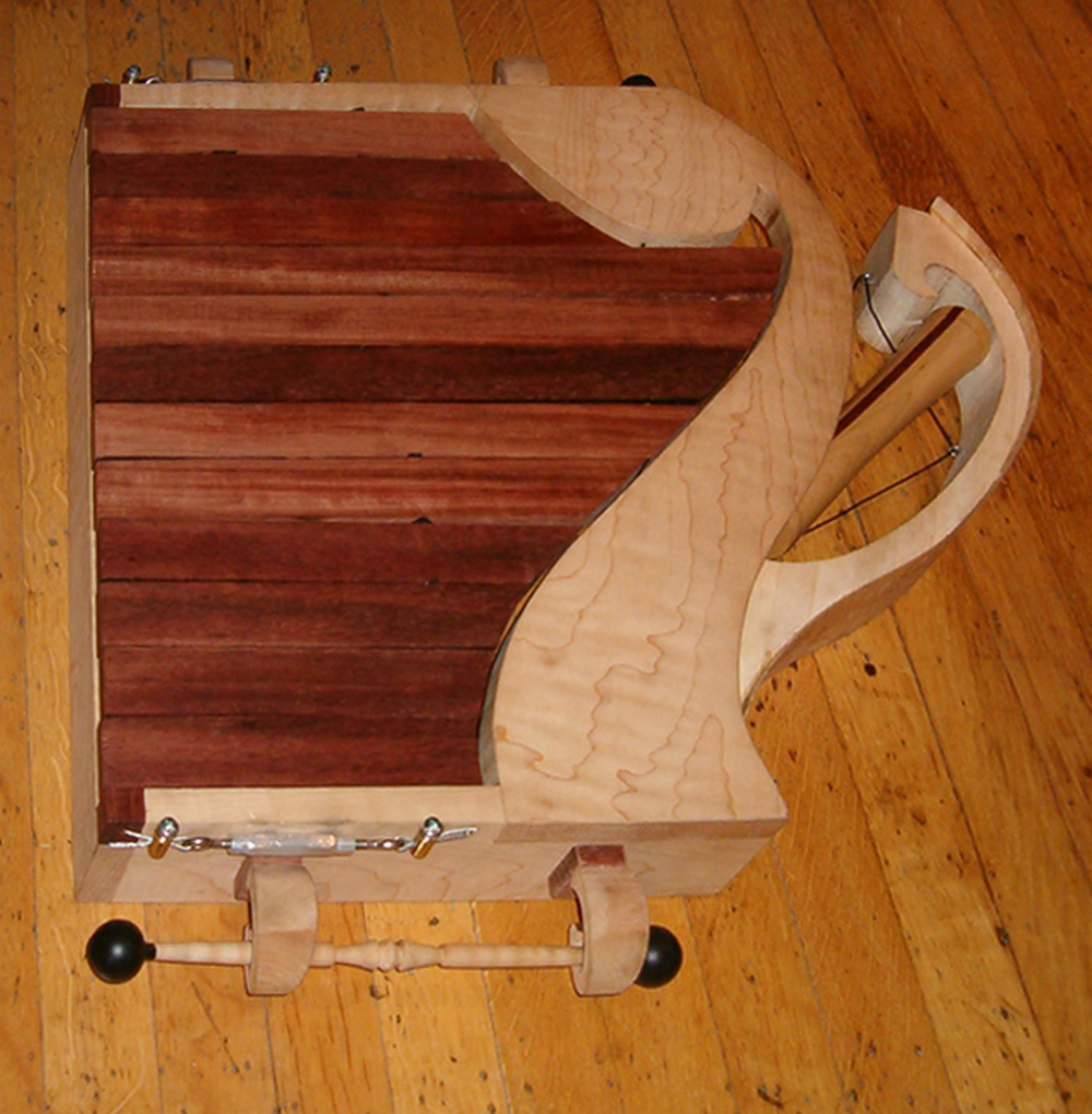 Diatonic Xylophone With Hidden Document Holder and Mallet Handles