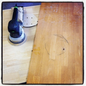 Sanding (before/after)