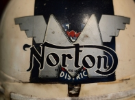 Norton Logo On An Old Helmet