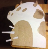 Drawing and cut-out. Step 2
