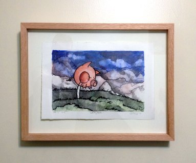 LolliPig Waits (framed)