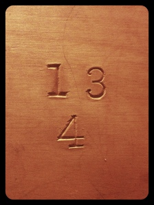 Very cool antique cataloguing numbers (original to the wood)