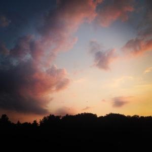 River sky