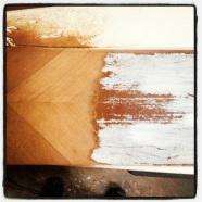 Sanding off bad paint