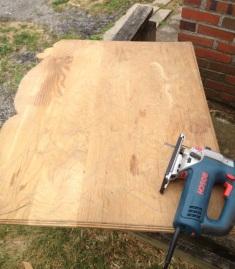 Reclaimed wood top
