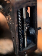 The inner workings of 1901 Singer sewing machine