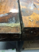 Jeweler's Cabinet repair (the top surface was bloated and cracked)