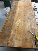 Bench Top Cabinet repair (sanding & scraping)