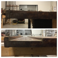 Before & After clamping the slats back together.