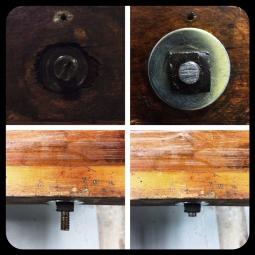 Rethreading & cutting down threaded bolts.