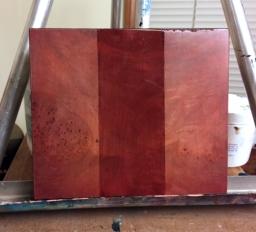 Second coat of transparent color