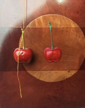 Painting the cherry next to a real one