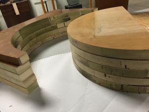 The bending jig starts to take shape