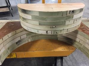 The bending jig detail