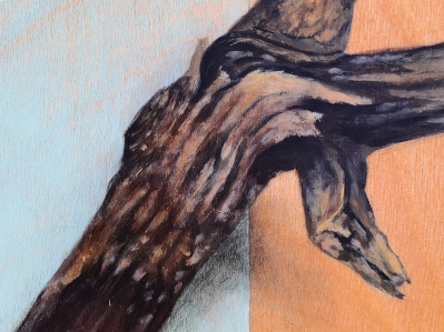 """""""Absolute: Graft"""" (detail), oil painting on maple. 48"""" x 36"""". 2.3.16."""