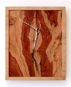 """""""Absolute: Insulation"""", Oil paint on reclaimed cherry wood. 12 3/4"""" x 15 5/8"""". 12.13.16."""