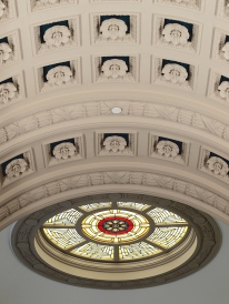 The ceiling of Carnegie Gallery Columbus Metropolitan Library