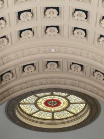 The ceiling of Carnegie Gallery Columbus Metropolitan Library