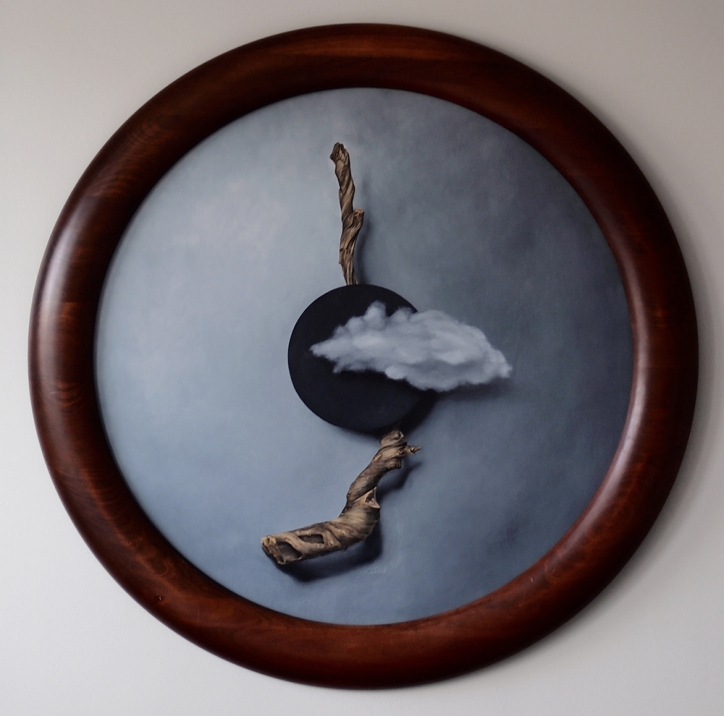 """""""Absolute: Totality"""", Oil painting on wood by Daric Gill"""