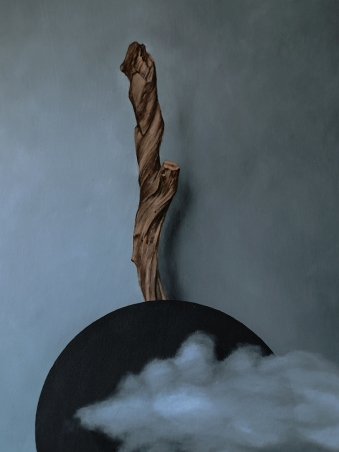 """Absolute: Totality"", Oil painting on wood by Daric Gill"