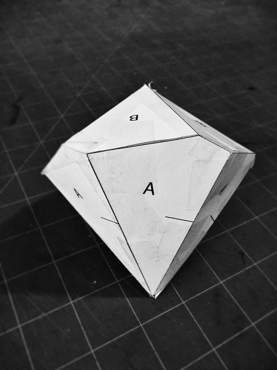 Settled on a design prototype: An unequal and twisted hexagonal trapezohedron antiprism. Later I'll truncate the design.