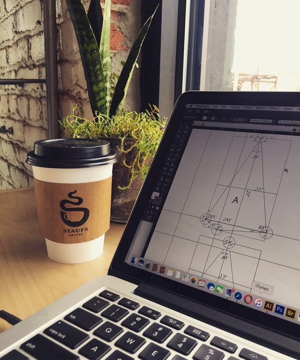 Designing what will later be the Shy Machine at my local Staufs Coffee Roasters.
