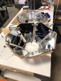 Preparing newly mirrored top section for top layer of acrylic