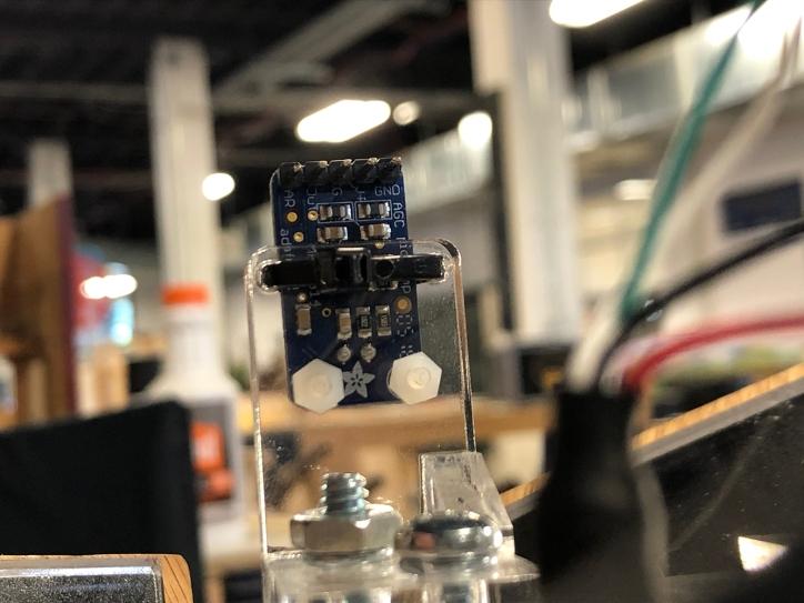 Detail of mic sensor bracket back