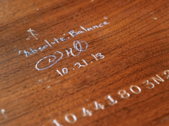 """""""Absolute: Balance"""", back signature and title"""