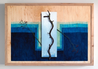 """Absolute: Frequency"": Oil on maple panel. 21 1/4"" x 30 1/2"". 12.11.18."