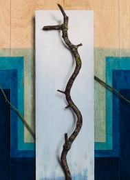 """""""Absolute: Frequency"""": Oil on maple panel. 21 1/4"""" x 30 1/2"""". 12.11.18."""