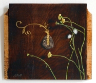 Oil painting on wood by Daric Gill