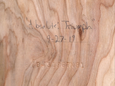 """Absolute: Triumph"": Oil paint on maple. 32 1/4"" x 41 5/8"""