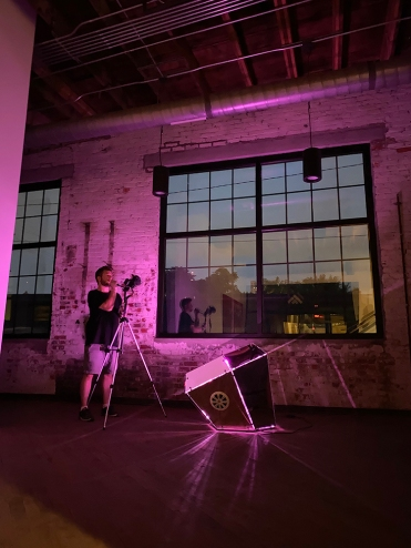 Interactive Light & Sound Sculpture by Daric Gill